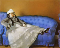 Edouard Manet - Portrait of Madame Manet on a Blue Sofa