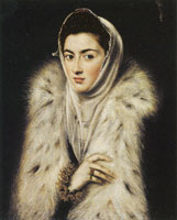 El Greco (also attributed to Sofonisba Anguissola) Lady in a Fur Wrap