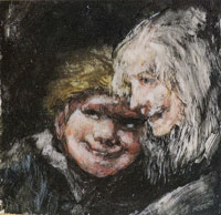 Francisco Goya - Heads of a Child and an Old Woman