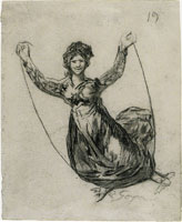 Francisco Goya Young Witch Flying with a Rope