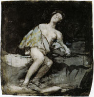 Francisco Goya Young Woman, Half-naked, Leaning against a Rock