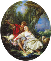 François Boucher Shepherd and Shepherdess Reposing