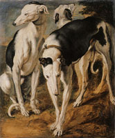 Frans Snyders Three dogs