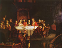 Franz Wulfhagen The wedding feast at Cana