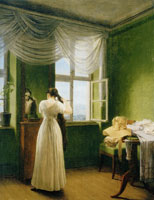 Georg Friedrich Kersting In Front of the Mirror