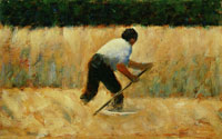 Georges Seurat The Mower
