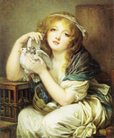 Jean-Baptiste Greuze Girl with Doves