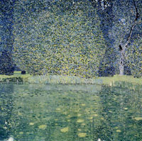 Gustav Klimt Pond of Schloss Kammer on the Attersee