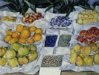 Gustave Caillebotte Fruit Displayed on a Stand