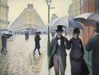 Gustave Caillebotte Paris Street; Rainy Day