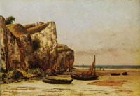 Gustave Courbet Beach in Normandy
