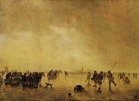 Jan van Goyen Winter Landscape with Skaters