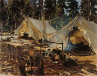 John Singer Sargent Tents at Lake O'Hara
