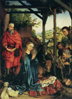 Martin Schongauer The Adoration of the Shepherds