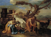 Nicolas Poussin Jupiter as a Child