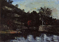 Paul Cézanne A bend in the river