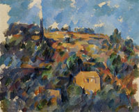 Paul Cézanne Houses on a hill, Provence