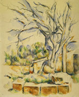 Paul Cézanne Pistachio tree in the courtyard of the Château Noir