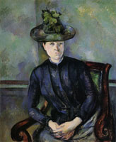 Paul Cézanne Woman in a Green Hat (Madame Cézanne)