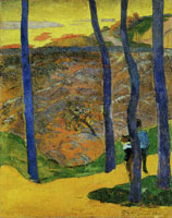 Paul Gauguin Blue Trees
