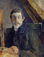 Paul Gauguin Self-Portrait at the Easel