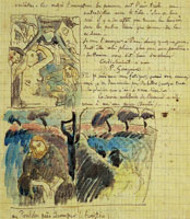 Paul Gauguin Sketches of Christ in the Garden of Olives