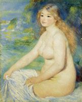 Pierre-Auguste Renoir Blonde Bather