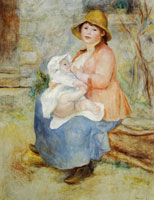 Pierre-Auguste Renoir Motherhood, Mother Nursing her Child (Mme Renoir with her Son Pierre)