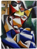 Lyubov Popova Portrait of a lady (Plastic drawing)
