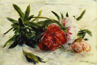 Pierre-August Renoir - Peonies on a White Tablecloth