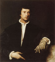 Titian Man with a Glove
