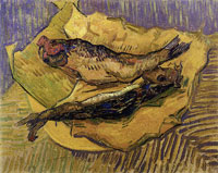 Vincent van Gogh Bloasters on a Piece of Yellow Paper