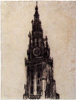 Vincent van Gogh Spire of the Church of Our Lady