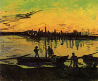 Vincent van Gogh Coal Barges