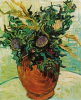 Vincent van Gogh Vase with Flowers and Thistles