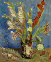 Vincent van Gogh Vase with gladioli and China asters