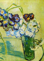 Vincent van Gogh Glass with Carnations