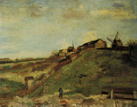 Vincent van Gogh The hill of Montmartre with quarry