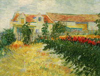 Vincent van Gogh House with Sunflowers