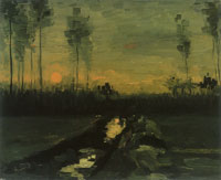 Vincent van Gogh Landscape with Sunset