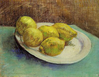 Vincent van Gogh A plate with lemons