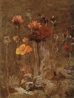 Vincent van Gogh Scabiosa and ranunculus