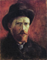 Vincent van Gogh Self-portrait with dark hat