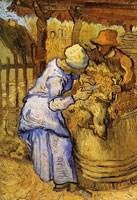 Vincent van Gogh Sheep Shearers