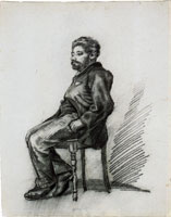 Vincent van Gogh Sitting Man