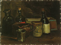 Vincent van Gogh Still life with bottles and earthenware