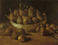 Vincent van Gogh Still life with an earthen bowl and pears