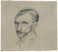 Vincent van Gogh Study for a self-portrait