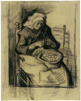 Vincent van Gogh Woman peeling potatoes