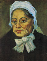 Vincent van Gogh Woman with white bonnet, head